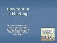 How to Run a Meeting - FarinHansford.com