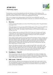 ATAR 2012 Preliminary report