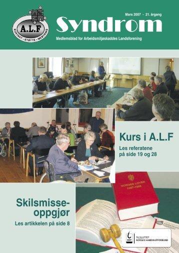 Syndrom nr 1 - 2007.indd - Arbeidsmiljøskaddes landsforening