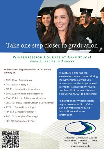Join us for Wintersession! - Asnuntuck Community College