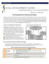 The Community Score Card Process in Gambia