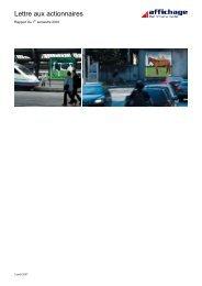Lettre aux actionnaires Août 2007 - APG SGA