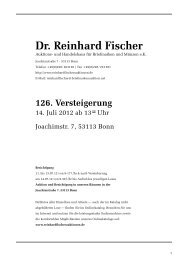 126. Versteigerung - Dr. Reinhard Fischer Briefmarken Auktions