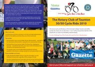 The Rotary Club of Taunton 50/50 Cycle Ride 2010 - Moving ...