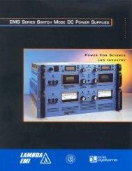 EMI EMS Series Power Supply Datasheet - MHz Electronics, Inc