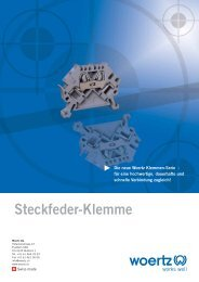 Steckfeder-Klemme - Woertz Carolina Inc.