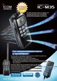 Documentation commerciale IC-M35 - Icom France