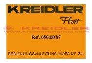 Kreidler Flott Bedienungsanleitung Mofa MF 24 - Kreidler Original