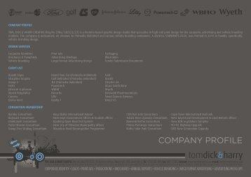 COMPANY PROFILE - Tom, Dick & Harry Creative