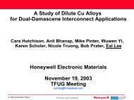 A Study of Dilute Cu Alloys for Dual-Damascene Interconnect ...