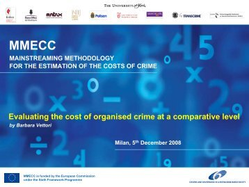 Evaluating the cost of organised crime at a comparative ... - Transcrime