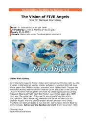 The Vision of FIVE Angels - Kochministry-Germany