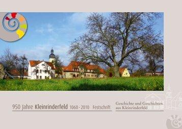950 Jahre Kleinrinderfeld 1060 - 2010 Festschrift - Gemeinde ...