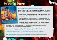 my fourth Face to Face report. - Commissioner for Children and ...