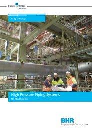 High Pressure Piping Systems - Bhr - Bilfinger