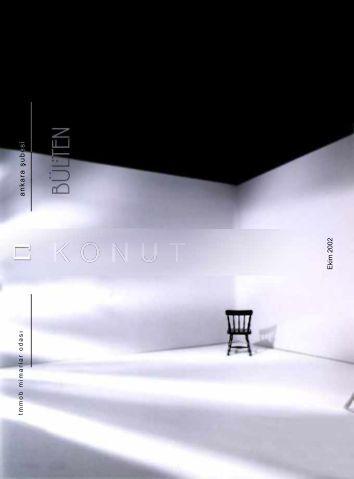Ekim 2002 - Dosya Konusu: Konut - Mimarlar Odası Ankara Şubesi