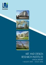 art and design research institute - Research - University of Ulster