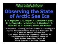 Observing the State of Arctic Sea Ice - State of the Arctic 2010