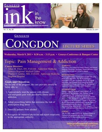 Pain Management & Addiction - Genesys Regional Medical Center