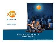 Cambios Resoluciones 156- 157-158 Vigencia 01-07-2012 - XM