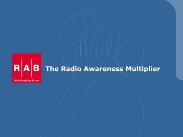 The Radio Awareness Multiplier