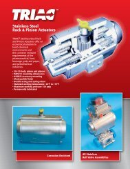 Stainless Steel Rack & Pinion Actuators - AT Controls