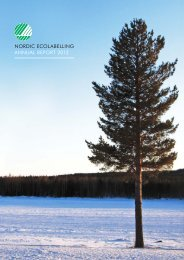 NORDIC ECOLABELLING ANNUAL REPORT 2012 - Svanen