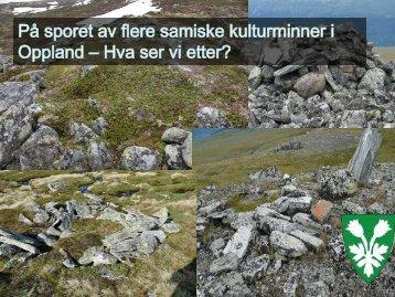 PÃ¥ sporet av fleire samiske kulturminne i Oppland - Maihaugen