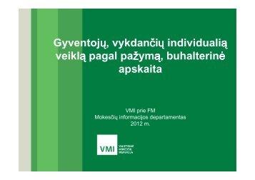 Individualios veiklos leidžiami atskaitymai - Tax.lt