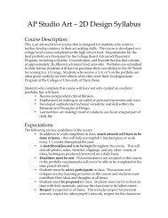 AP Studio Art – 2D Design Syllabus