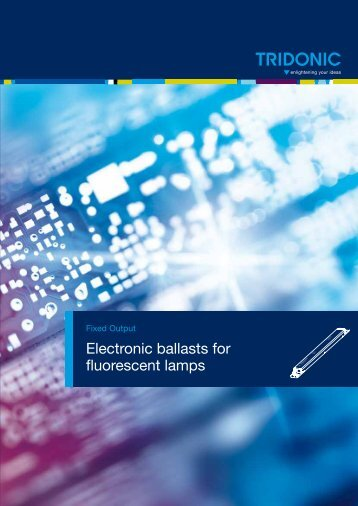 Electronic ballasts for fluorescent lamps