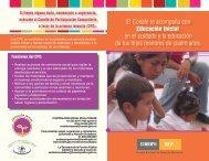 Díptico de Educación Inicial del Conafe - conafe.edu.mx