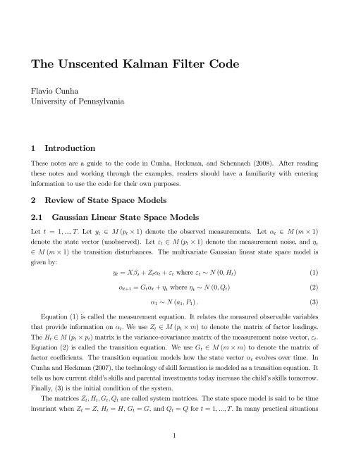 The Unscented Kalman Filter Code