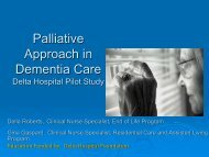 Palliative Approach in Dementia Care - Fraser Health Authority