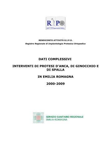 Report annuale 2009 Regione Emilia - RIPO - Cineca