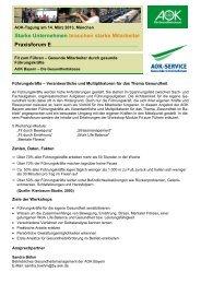 Praxisforum E - Institut für Betriebliche Gesundheitsförderung BGF ...
