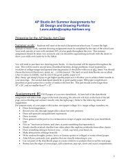 AP Studio Art Summer Assignments for 2D Design and Drawing ...