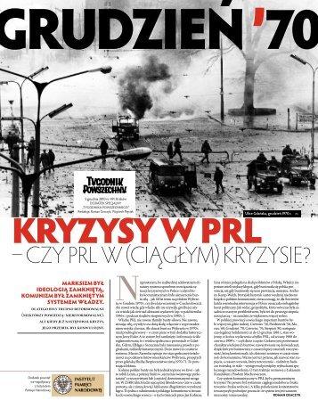 – czy PRL w (ciągłym) kRyzysie? - Pamięć.pl