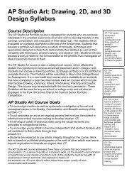 AP Studio Art: Drawing, 2D, and 3D Design Syllabus