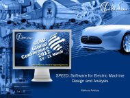 SPEED: Software for Electric Machine Design and Analysis