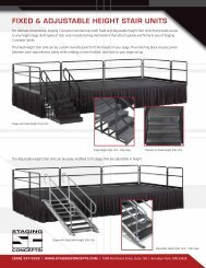 FIXED & ADJUSTABLE HEIGHT STAIR UNITS - STARBAEK