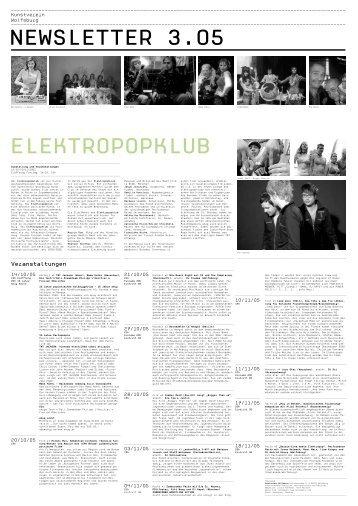 Programm Elektropopklub in Wolfsburg - Büro Kopernikus
