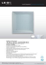 Produktblatt Lucid square - LEIDS