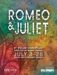Read or download the Romeo & Juliet dramaturgy program articles