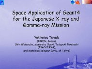 Space Application of Geant4 for the Japanese X-ray and ... - SPENVIS