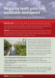 Measuring health gains from sustainable development