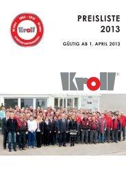 Preisliste DE (12mb) - Kroll GmbH