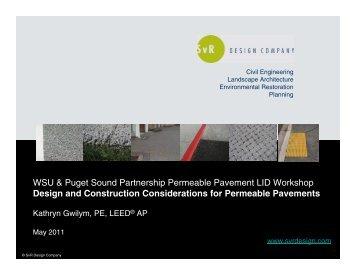 WSU & Puget Sound Partnership Permeable ... - SvR Design