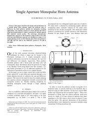 Single Aperture Monopulse Horn Antenna