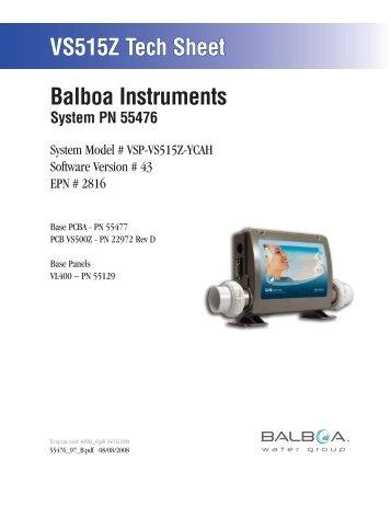 55476, VSP-VS515Z-YCAH - Balboa Direct